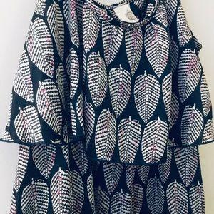 FRANCESCA'S LEAF PATTERN DRESS LARGE
